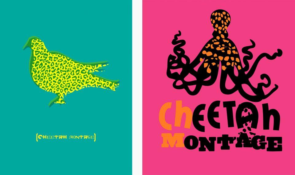 Cheetah Montage Screen Prints
